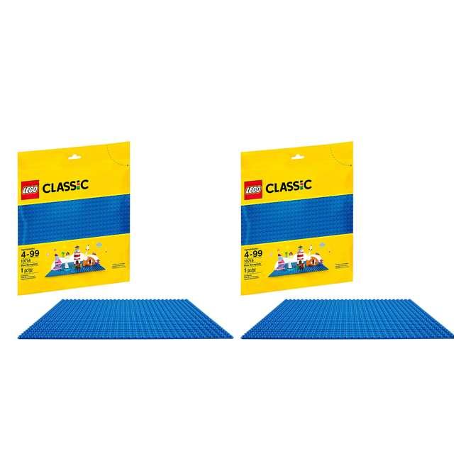 6213433 32 x 32 LEGO Baseplate, Blue (2 Pack)