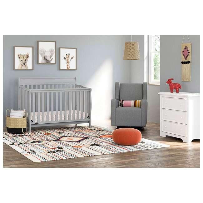 04530-66F + 06711-300 Graco Stanton 4-in-1 Crib in Pebble Gray w/ Natural Foam Mattress 5