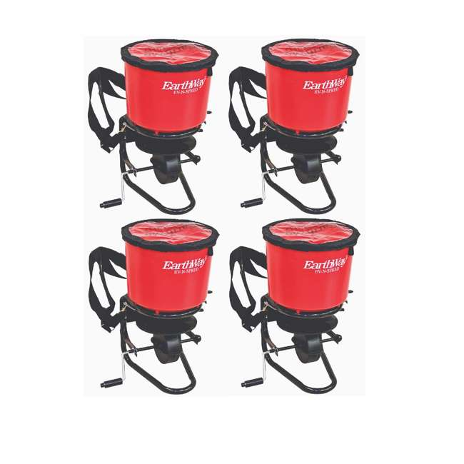 4 x EWAY3100 Earthway Commercial Hand Crank Seed Fertilizer Salt Broadcast Spreader (4 Pack)