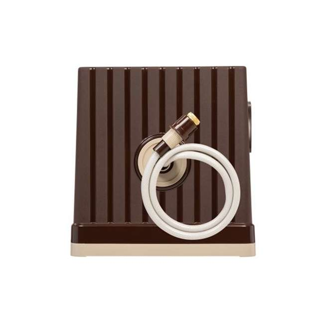 588518 IRIS USA 98.42 Foot Portable Hose Reel Caddy with Nozzle, Brown 4