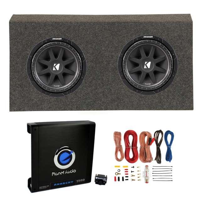 kicker 12 inch 1000w subwoofers 2 12 inch jeep sub box. Black Bedroom Furniture Sets. Home Design Ideas