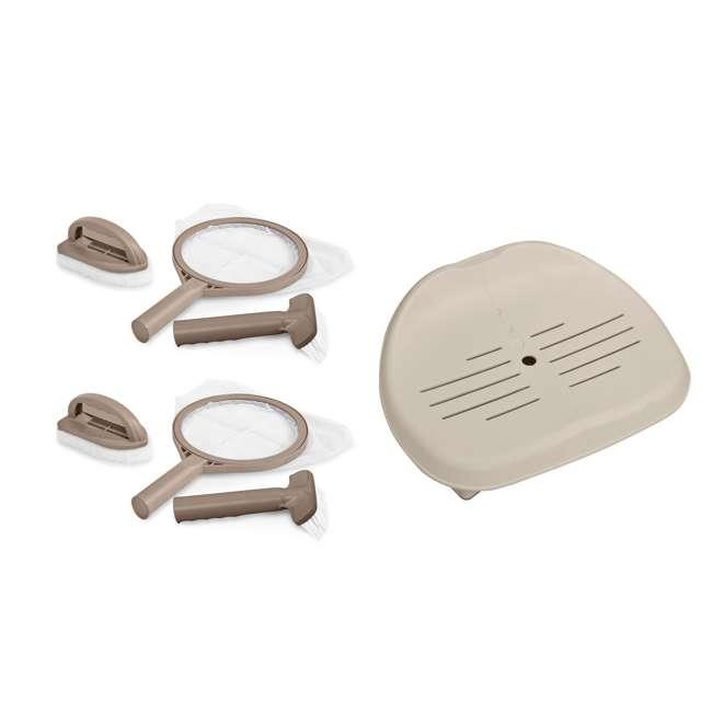 28502E + 2 x 28004E Intex Slip-Resistant Hot Tub Seat & Accessory Kit (2 Pack)