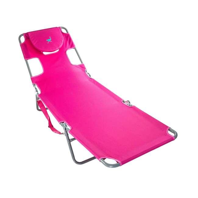 4 x CHS-1002P Ostrich Chaise Lounge Folding Portable Sunbathing Poolside Beach Chair (4 Pack) 1