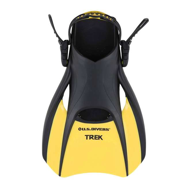 240850-US U.S. Divers Trek Size Medium Diving & Swimming Fins, Yellow 1