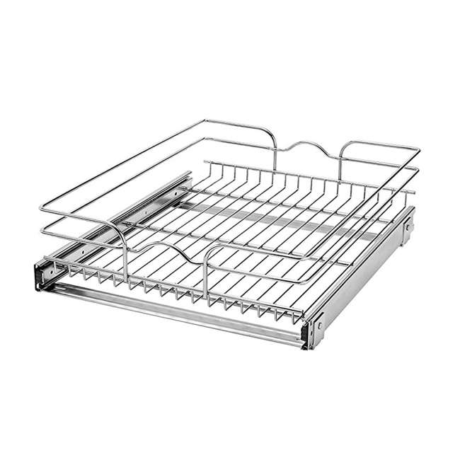 "4 x 5WB1-1822-CR Rev-A-Shelf 18"" Wide 22"" Deep Base Kitchen Cabinet Pull Out Wire Basket (4 Pack) 1"