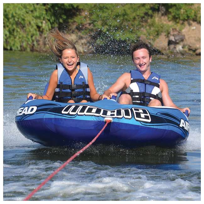 AHM2-2 Airhead Mach 2 Inflatable 2-Rider Water Towable Tube 3
