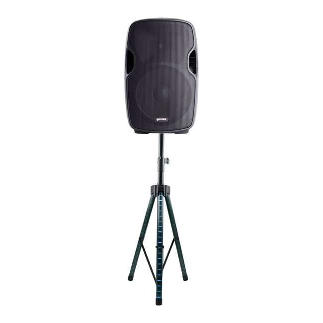 """AS-08P + STL100 Gemini AS-08P Portable 8"""" Active Powered PA Loudspeaker with LED Tripod Stand"""