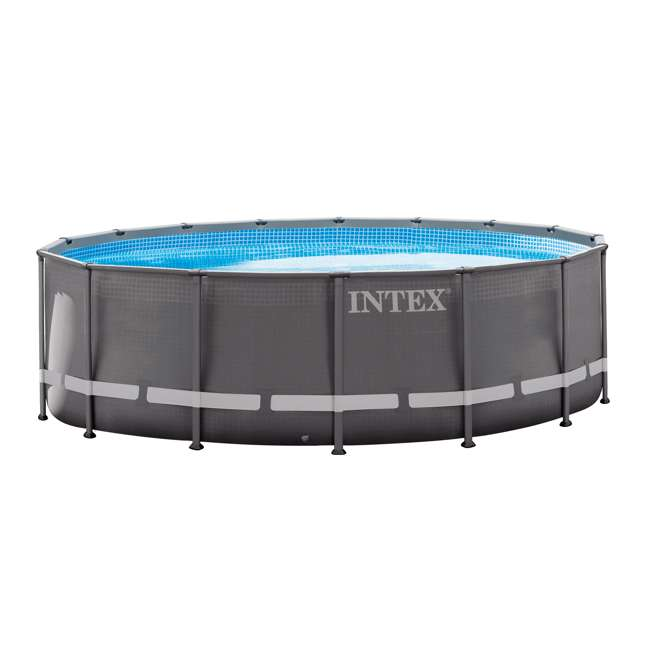"26321EH + 6 x 29000E Intex 16' x 48"" Ultra Frame Above Ground Pool Set and Six Filter Cartridges 1"