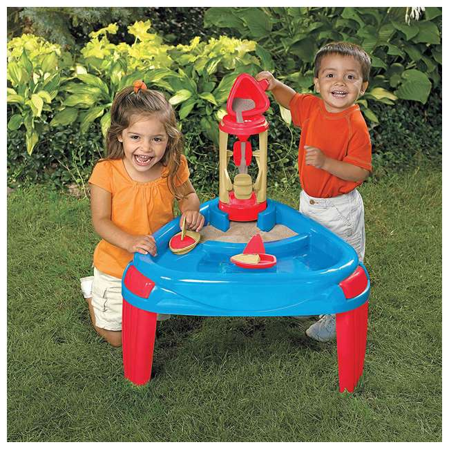APT-16500 American Plastic Toys Kids Sand and Water Wheel Play Table  1