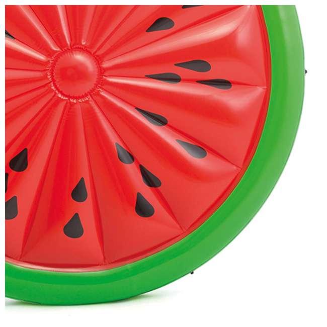 56283EP + 66639E Intex  72-Inch Watermelon Island Raft | Intex 120V Quick Fill AC Air Pump 6