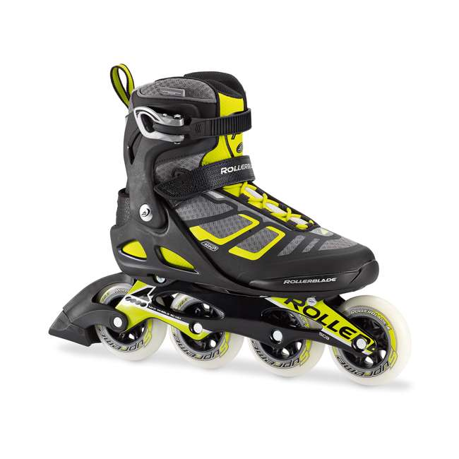 077340001A1-9 Rollerblade USA Macroblade 90 Men's Adult Fitness Inline Skates Size 9, Lime 1