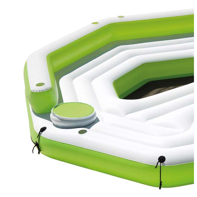 56291CA-U-B Intex Inflatable Key Largo Party Island w/ Built-In Coolers & Cupholders | Used 2