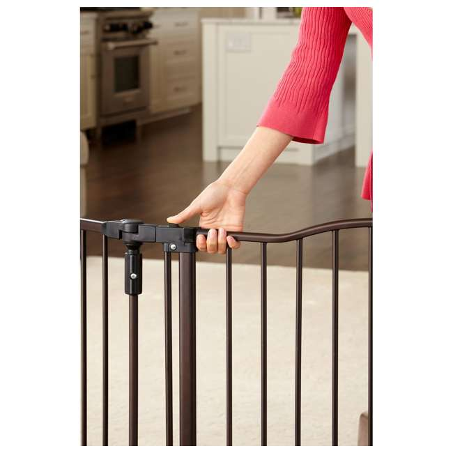 4934 + 2 x 4938 North States Deluxe Decor Baby and Pet Metal Gate + 2 15-Inch Extensions 6