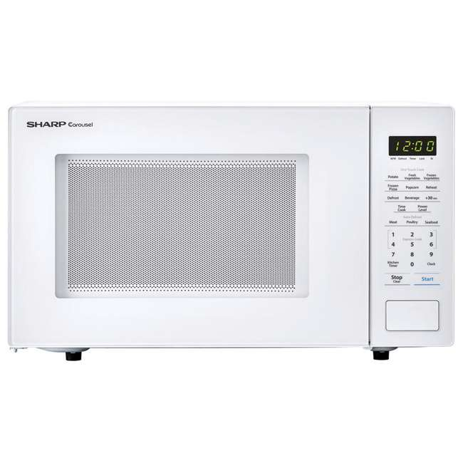 SMC1131CW-RB Sharp Carousel 1.1 Cu Ft Countertop 1000W Microwave Oven (Certified Refurbished)