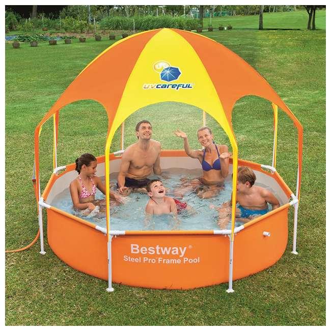"56543-BW-U-A Bestway 8' x 20"" Splash Shade Kids' Spray Pool with Canopy (Open Box) (2 Pack) 1"