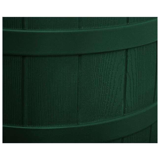 RW50-DIV-GRN Good Ideas Rain Wizard Rain Collection Barrel 50-Gallon w/ Diverter Kit, Green 4