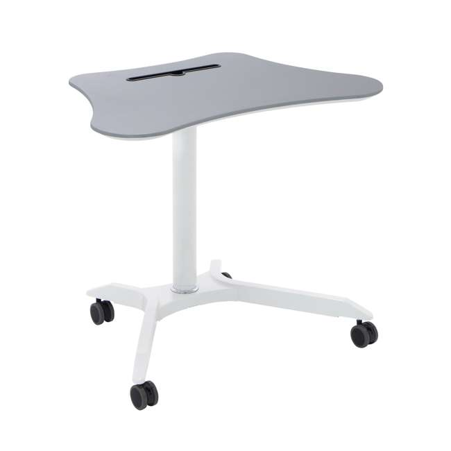 51234 Calico Designs 51234 Cascade Height Adjustable Cart & Work Station, White/Silver 3