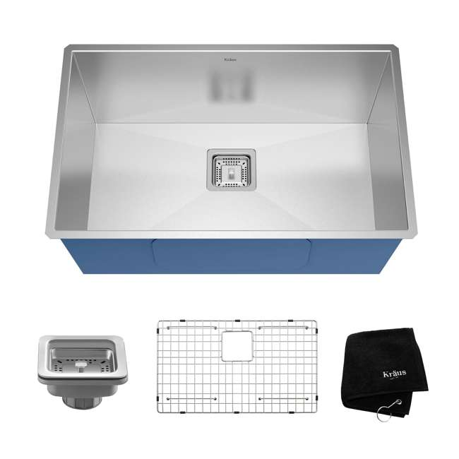 KHU29 Kraus Pax 28-Inch Rectangular Undermount Stainless Steel Kitchen Sink (2 Pack) 1