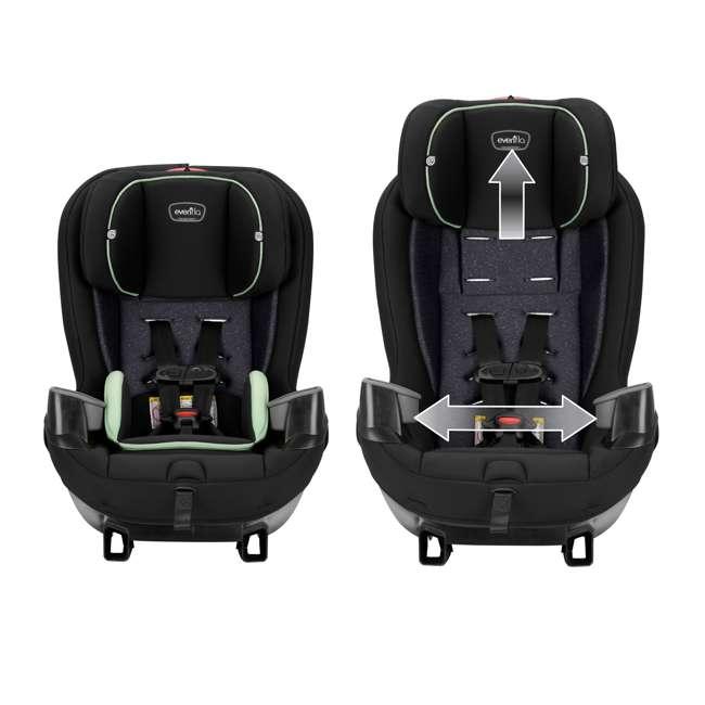 38312267 Evenflo Stratos 65 Forward/Rear Facing Convertible Car Seat, Pikes Peak Black 3