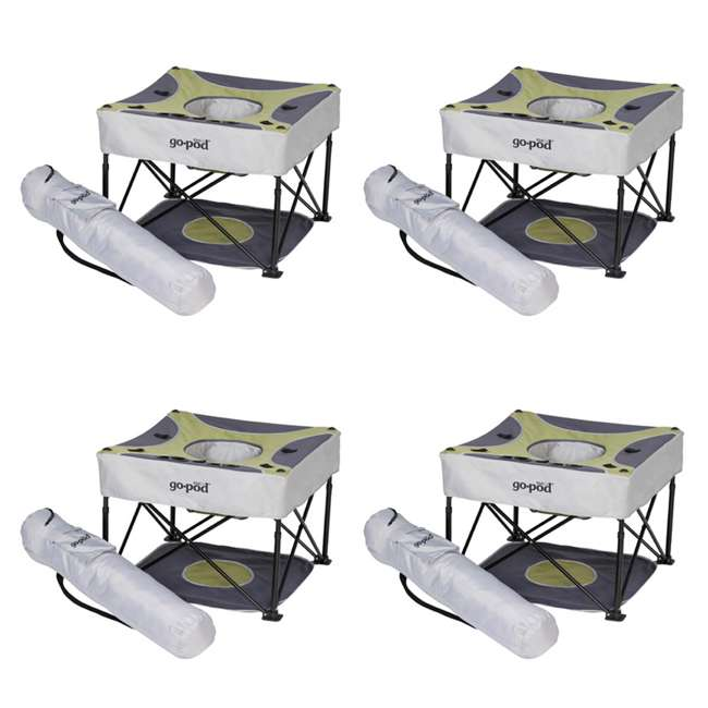 4 x P7002 KidCo GoPod Adjustable Height Travel Activity Seat, Pistachio (4 Pack)