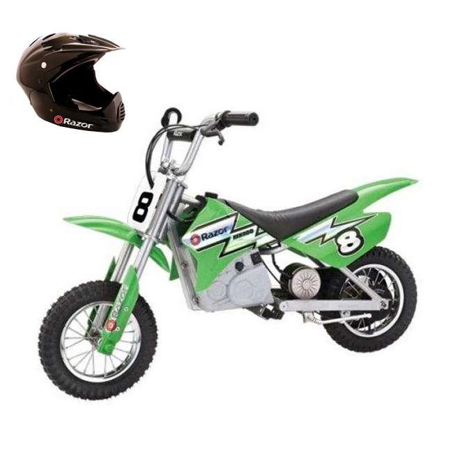 15128030 + 97775 Razor MX400 Dirt Rocket Moto Bike & Full Face Helmet