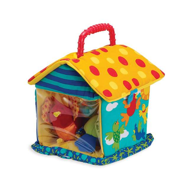 201110 Manhattan Toy Put and Peek Soft Interactive Birdhouse with 4 Colorful Birds 5