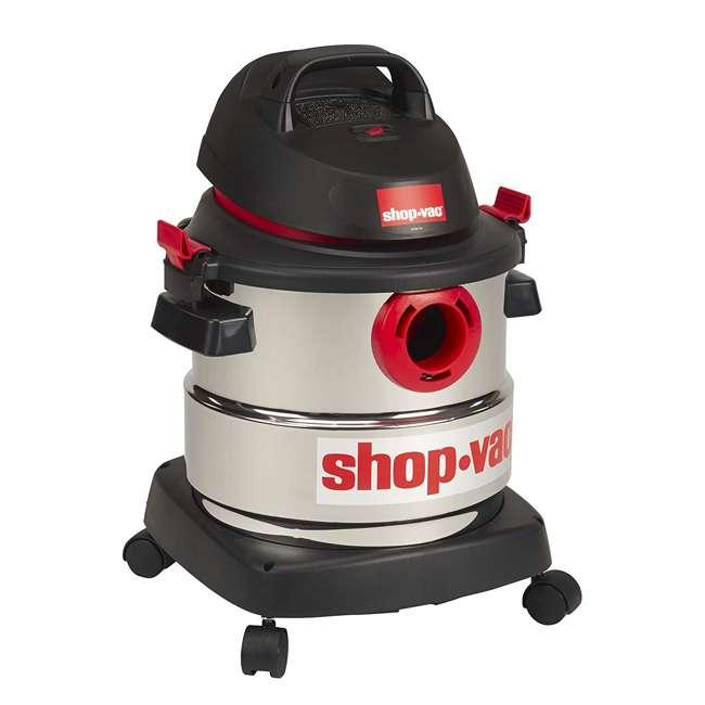 5989300 Shop Vac Stainless Steel Portable 5 Gallon Wet Dry Vacuum Floor Cleaner & Blower 2