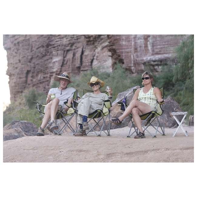 579VBK TravelChair 579V Teddy Folding Portable Camping Hunting Nylon Mesh Chair, Black 2