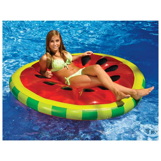 90544-U-A Swimline Inflatable Watermelon Slice Island Raft For Pool/Lake/Ocean | Open Box 2