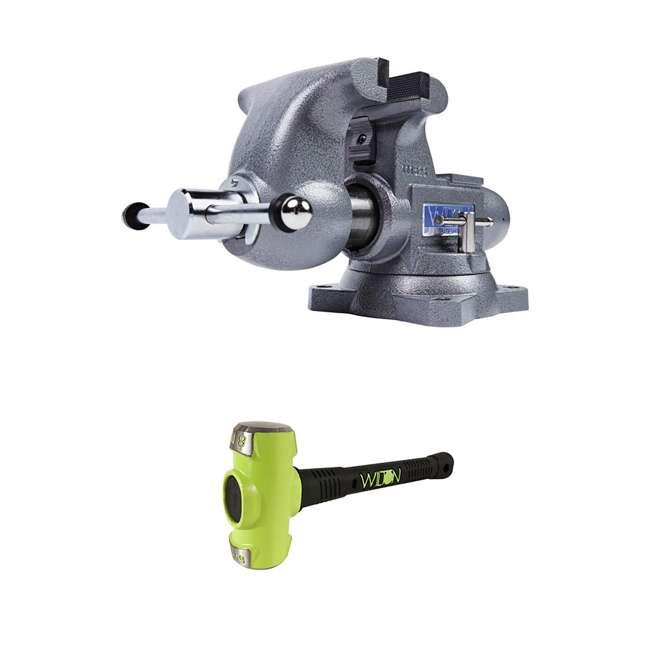 JPW-28807 + WIL-20416 Wilton Tradesman Steel Vise w/ 4 Pound Sledge Hammer