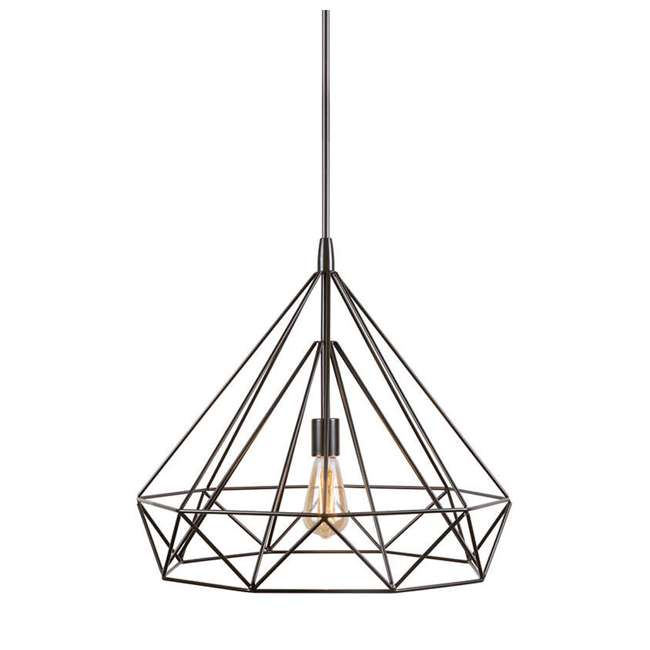 PLC-4110802U9 Philips Gabbia 18-Inch Pendant Light, Oiled Bronze (2 Pack) 2