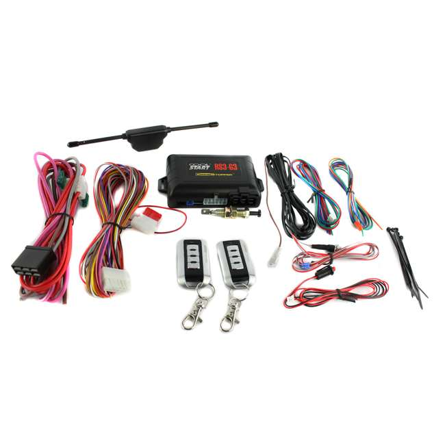 RS3G3 Crimestopper RS3-G3 Remote Start Engine with Keyless Entry System 4 Button RS3G3