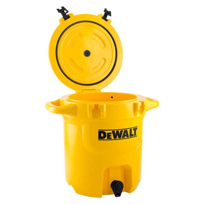 DXC5GAL-U-A DeWALT 5 Gallon Water Jug Dispenser Cooler w/ Spout & Handles, Yellow (Open Box) 2