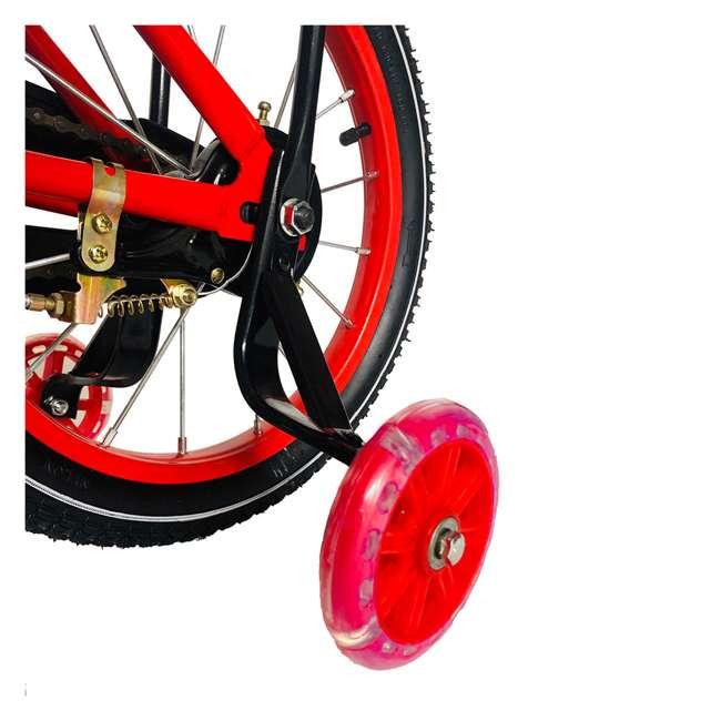 16BK-R NextGen 16 Inch Childrens Kids Bike Bicycle with Training Wheels & Basket, Red 4