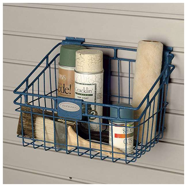 MB0812 Storage Trends 8 x 12 Inch Mounted Wire Basket, Blue 1