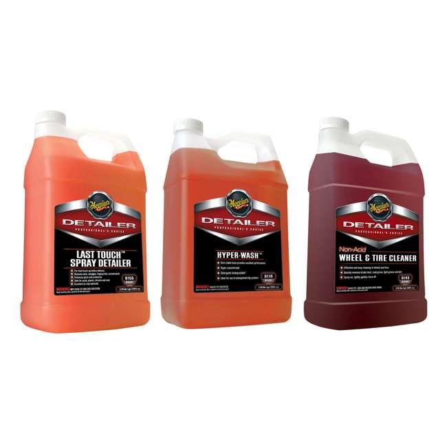 D15501 + D11001 + D14301 Meguiar's Spray Detailer, Hyper-Wash and Tire Cleaner, 1 Gal
