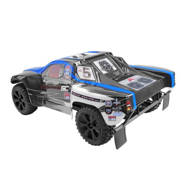 BLACKOUT-SC-BLUE Redcat Blackout SC Brushed Electric RC Short Course Truck 3