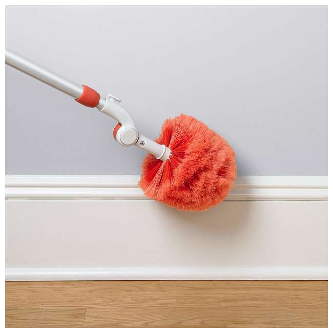 12183600 OXO Good Grips 3-In-1 Extendable Long Reach Microfiber Dusting System, Orange 4
