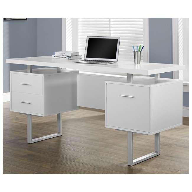 VM-7081 + VM-7048 Monarch 60 Inch Office Computer Desk w/ Filing Drawer & 3 Drawer Filing Cabinet 2