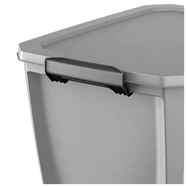 12 x T20GLSL Life Story Gray Latching Storage Tote, 20 Gallons (12 Pack) 2