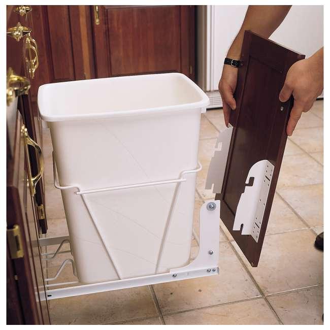RV DM KIT Rev-A-Shelf RV DM KIT Door Mounting Kit for RV Series Waste Containers, White 1