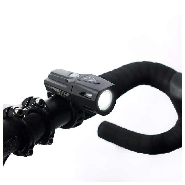 ZOT-250-50 Cygolite Zot 250 Lumen Headlight & TL 50 Lumen TailLight Rechargeable Combo Set 4