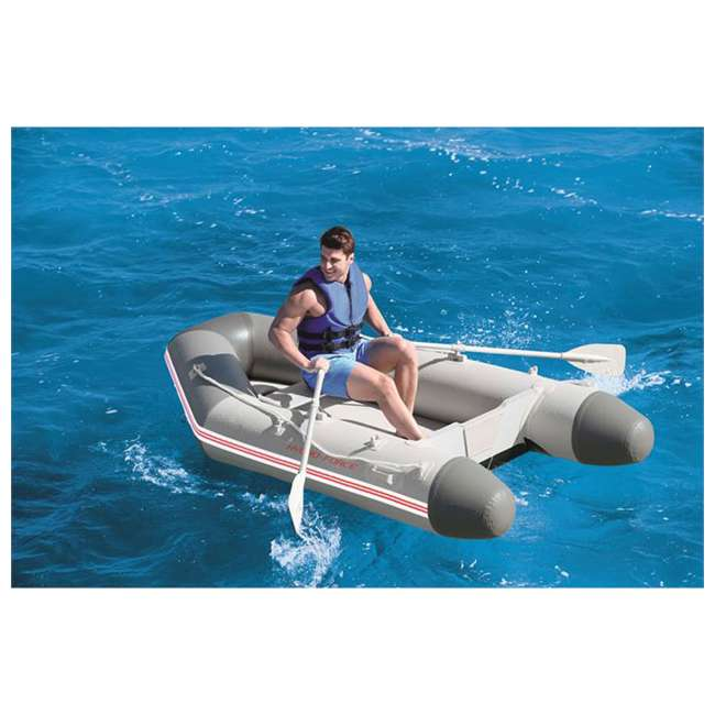 65047E-BW Bestway 110 Inch Caspian Pro Inflatable Boat Set with Oars and Pump (2 Pack) 6
