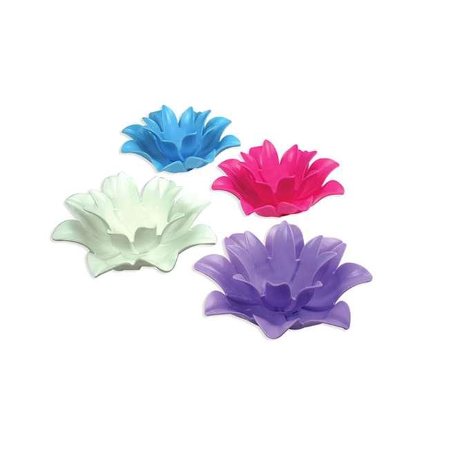 54513-U-B Poolmaster 9.75 Inch Floating Lotus Blooms Flower Pool Lights (4 Pack) (Used)