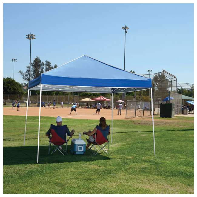 ZSB10EVRBL + ZSHDSK4 Z-Shade 10 x 10 Foot Everest Instant Canopy Shelter with Four Steel Stake Skit 4