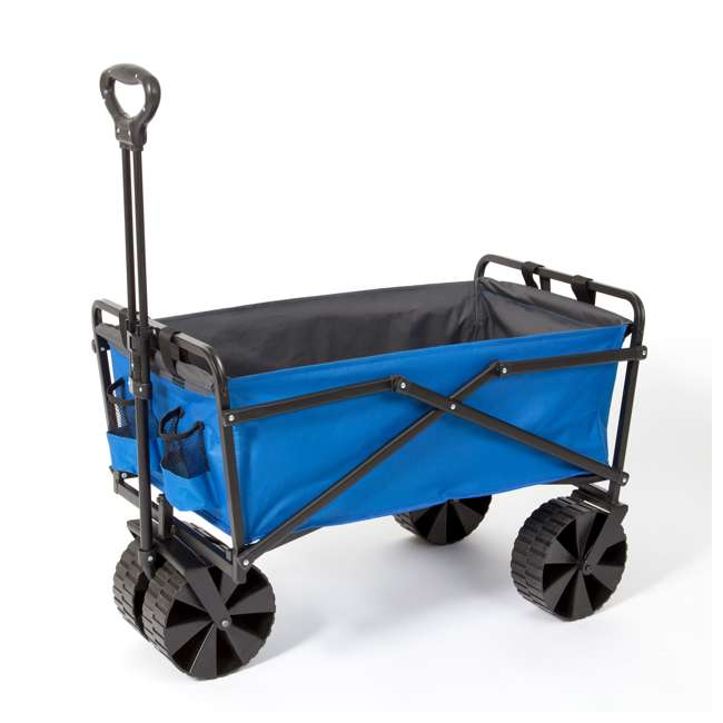 SUW-400-BLUE-GRAY-U-B Seina Manual 150 Pound Steel Frame Folding Cart Beach Wagon, Blue/Gray (Used)