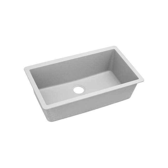 ELGRU13322WH0-OB Elkay Quartz Classic 33-Inch Rectangular Undermount Sink,White (OPEN BOX)