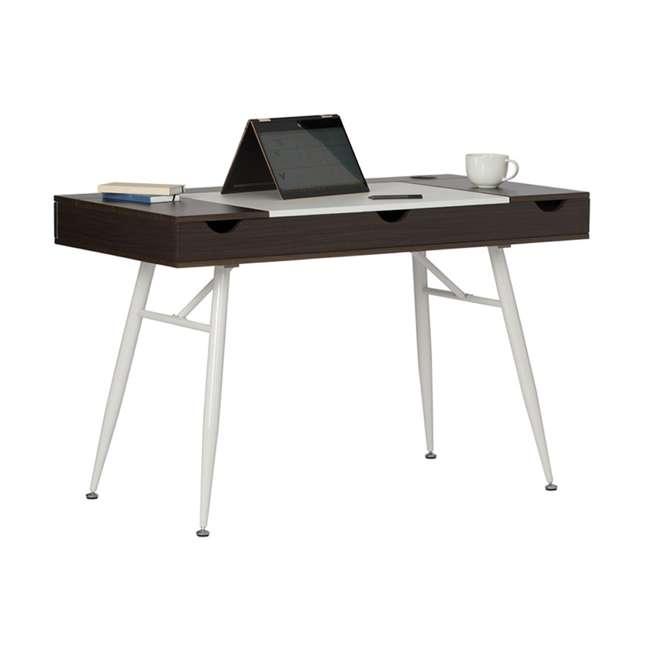 51251 Calico Designs 51251 Nook Desk with Storage Compartments, White/Dark Walnut 2