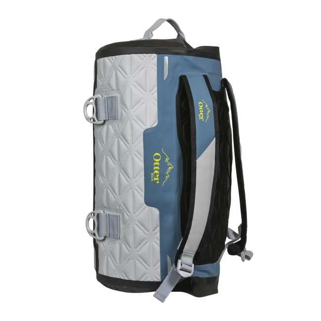 77-57796 Yampa 70 Liter Dry Duffle Waterproof Backpack Bag, Hazy Harbor Gray and Blue