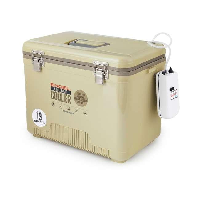 ENGLBC19-N-TAN Engel 19-Quart Hard-Sided Live Bait Fishing Dry Box Cooler, Tan